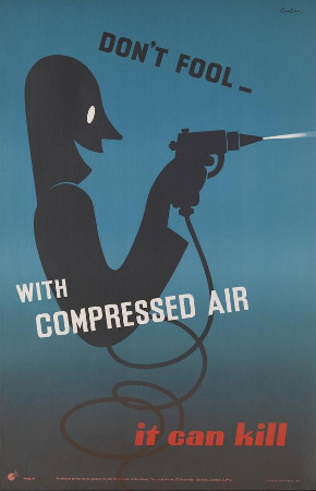 Safety Poster Compressed Air